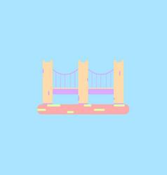 San francisco bridge metal bridge vector