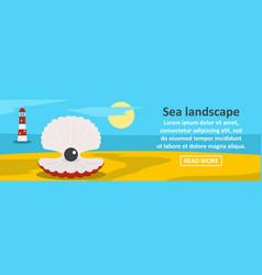 sea landscape banner horizontal concept vector image
