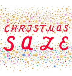 Seamless Christmas sale text design vector image