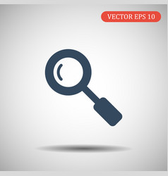 Search icon in trendy flat style isolated on grey vector
