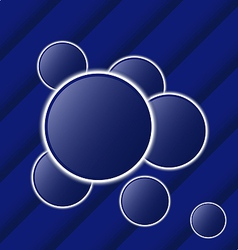 Set abstract balls as speech bubbles vector image