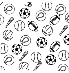 set balls sports equipment vector image