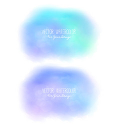 Set of 2 bright stains pseudo watercolor vector