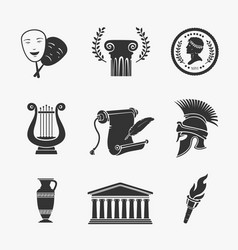 Set symbol greece vector