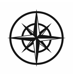 Sign compass to determine cardinal directions vector