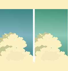 sky clouds poster vector image