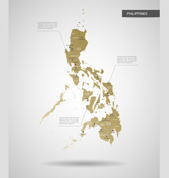 stylized philippines map vector image