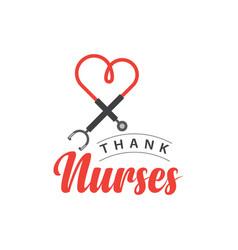 Thank nurses template design vector