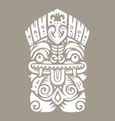 Tiki totem mask vector