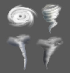 tornado realistic nature whirpool twisted weather vector image