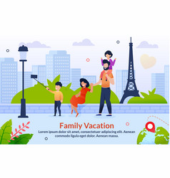 Tour abroad on family vacation motivation poster vector