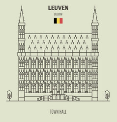 Town hall in leuven vector
