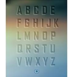 Transparent three-dimensional alphabet set vector