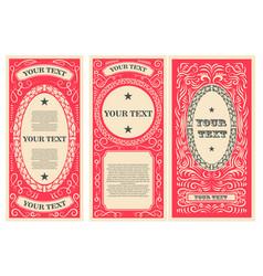 vintage banner template design elements for vector image