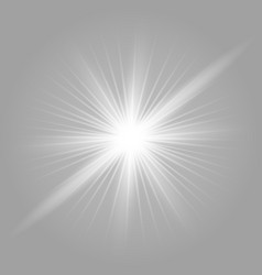 White glowing light vector
