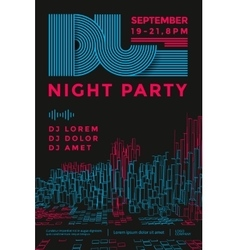 Dance night party vector image