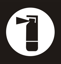 fire extinguisher icon - black vector image vector image