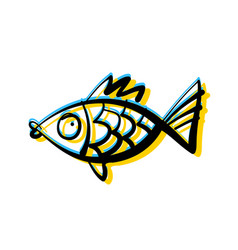 fish underwater vector image