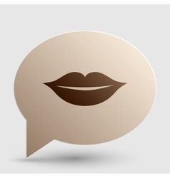 Lips sign Brown gradient icon on vector image vector image