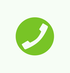phone green icon vector image