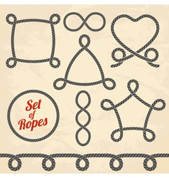 Set of ropes vector image