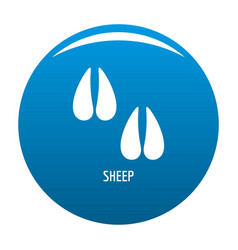 sheep step icon blue vector image