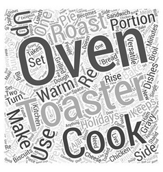Toaster oven word cloud concept vector
