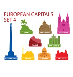 European capitals vector image