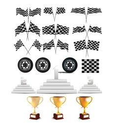 Racing design elements vector
