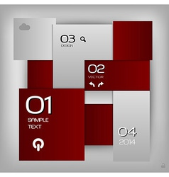 business squares template red with text vector image vector image