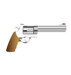 metal handgun vector image