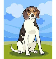 beagle dog cartoon vector image vector image