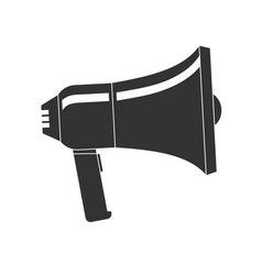 loudspeaker or megaphone icon isolated on a vector image