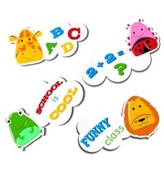Stiker Funny animals vector image vector image