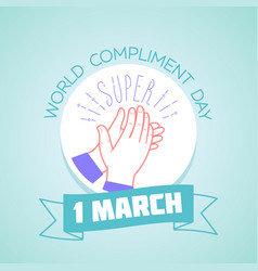 1 march compliment day vector