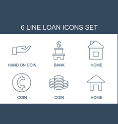 6 loan icons vector