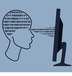 Abstract human head with the computer vector