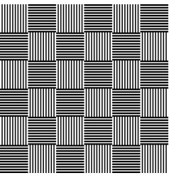 Abstract monochrome background with lined squares vector