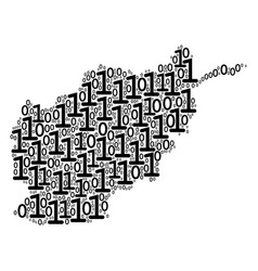afghanistan map mosaic of binary digits vector image