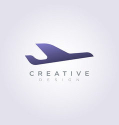 Airplane design clipart symbol logo template vector
