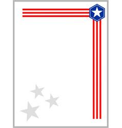 american flag symbols ribbon corner vector image