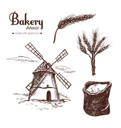 bakery shop set 3 vector image