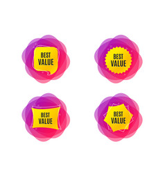 Best value special offer sale sign vector