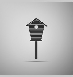 bird house icon isolated on grey background vector image