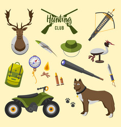 camping trip equipment collection accessories and vector image