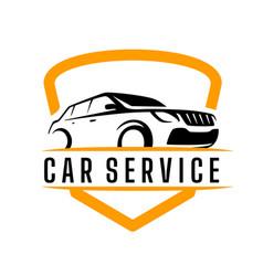 car service logo template vector image