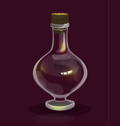 Cartoon magic bottle icon for casual fantasy game vector
