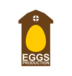 chicken farm emblem egg farm logo poultry factory vector image