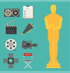cinema movie making tv show tools equipment vector image