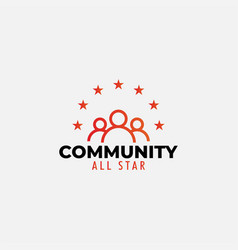 community logo design template isolated vector image